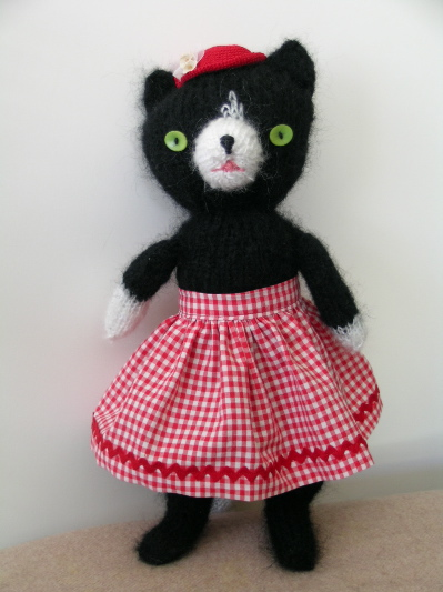 black mohair cat