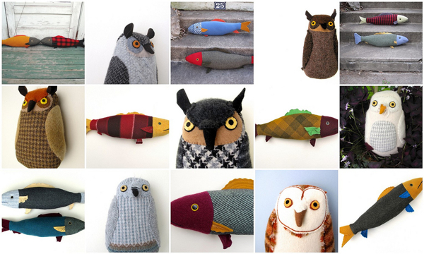 1:1:fish and owls